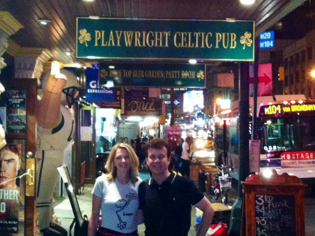 So much fun hanging around with Stage Manager John Bamond eating at cafes and Irish Pubs!