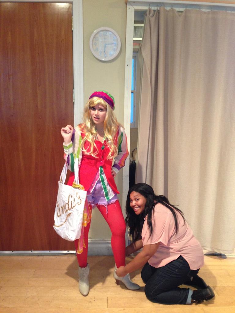 Gabrielle Marlene (Rainbow & Bernadette) getting fitted by former College of Charleston student Alanda Parker