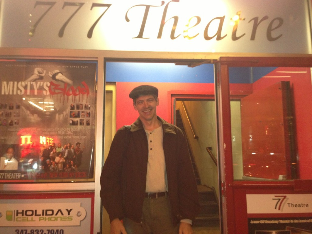 Narrator Jeoff Grady after rehearsal at one of our rental studios.