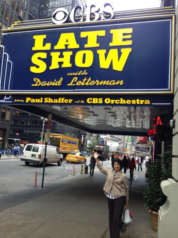 Paulette Bertolami (Connie Normellino) takes in the sights!